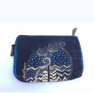 Laurel Burch Feline Polka Dot Mini Cosmetic Bag